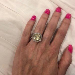 Fake yellow diamond engagement ring